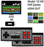 USB Wireless Handheld TV Video Game Console Built-in 568 Classic Video Games Wireless Dual Handheld Game Player,The Retro Stick (HDMI 4K USB)