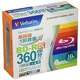 Verbatim バーベイタム 1回録画用 ブルーレイディスク BD-R DL 50GB 10枚 ホワイトプリンタブル 片面2層 1-4倍速 VBR260YP10V1