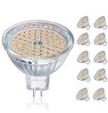 Bombillas LED GU5.3, bombillas LED MR16 5W equivalentes a bombillas halógenas de 50W 12V, 400LM, blanco cálido 3000K, no...