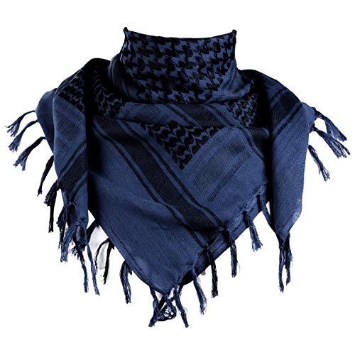 FREE SOLDIER Halstuch/Kopftuch Shemagh,100% Baumwolle Pali-Tuch Schals Unisex,Blau,110 * 110cm