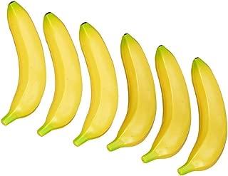Banana Plastic - 6pcs Plastic Simulation Bananas Yellow - Bananaholder Banana Holder Soccer Hammock Conditioner Oatmeal Cups Plastic Jersey Toys Figurines Miniatures Soft Bucket Children Finger