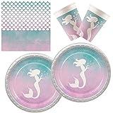 Procos 10133070 - Juego de Accesorios para Fiestas con diseño de Sirena, Multicolor