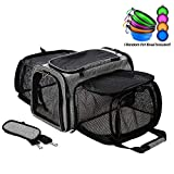 Coopeter Luxury Pet Carrier Two Soft-Side Expansion,Pet Travel...