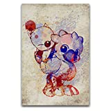 GYJZZW Chocobo and Moogle and Exquisite Canvas Wall Art Posters, Canvas Material Wall Pictures, Leisure Clubs Gyms, Dance Studycanvas Art Wall Decor,12''×18''(3045cm) unframed or Framed