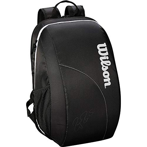 Wilson Tennis Backpack Fed Team, Up to 2 Racquets, Black/White, WRZ834895