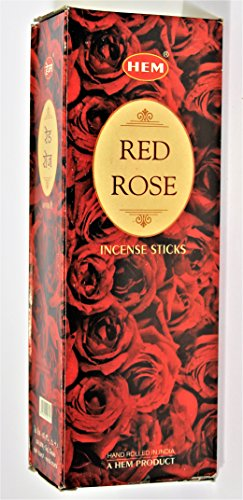 YesMandala Incienso Hem -Red Rose- 6 Cajas de 20 Varillas