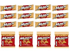 Gluten free, Low Glycemic Index, No Artificial Ingredients Includes: 12 Fresh Bars of Munch Pure Peanut Goodness Includes: 4 Bags of Yummy MUNCH Brittle Bites