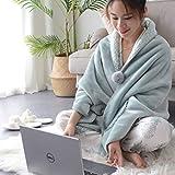 JUYOU Coperta di pelliccia artificiale in microfibra coperta di cotone per il letto a scomparsa leggermente lanuginoso (grigio, 200X80cm)