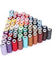 60 stks Kleur Naaimachine Draad, Polyester Borduurmachine Draad Kit, 60 stks Verschillende Kleuren Naaigaren, voor Hand Naaien