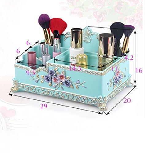 MZP Desktop-Skin Care kreative Aufbewahrungsbox großer Aufbewahrungsbox Desktop Lippenstift kosmetische Schmuckschatulle Kommode , days blue