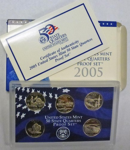 2005 S Statehood Quarters Proof Set Original Mint