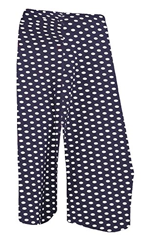 Momo&Ayat Fashions Dames Polka Dot 3/4 Cropped Culotte Brede Been Korte Broek UK Maat 8-26