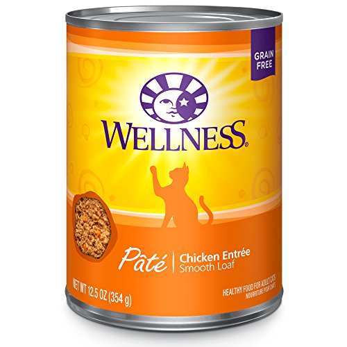 Wellness Complete Health Grain Free Canned Cat Food, Chicken, 12.5 Ounces (Pack of 12)