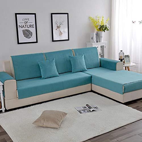 Funda cubre Sofa chaise longue,Protector de terciopelo impermeable para protector de sofá,cojines de sofá para niños a prueba de orina para mascotas,funda antideslizante para perros y gatos,toallas