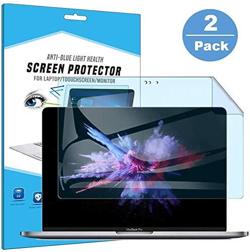 Z Q Protector de Pantalla Macbook Pro 13 Pulgadas 2020 , Película de Filtro antideslumbrante Protección de los Ojos Pantalla de Bloqueo de luz Azul .2PCS