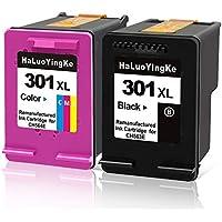 Cartuchos de Tinta HP 301 301 remanufacturados Compatible con HP Envy 4500 4502 4504 4505 Deskjet 1000 1010 1050 2000 2050 Officejet 2620 2622 2624 Impresora (1 Negro, 1 Tricolor)
