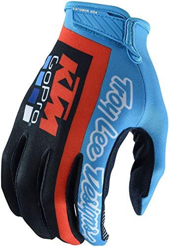Troy Lee Designs Motorrad-Handschuhe Air KTM Team LIC, leicht und ultra belüftet XL NAVY CYAN