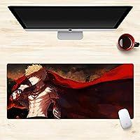 私のヒーローアカデミア大型マウスパッド、漫画のマウスパッド、ゲーミングマウスパッド、デスクトップマウスパッド、滑り止めと防水、マット800 * 300 * 3 MM /900 * 400 * 3 MM-イメージA_900*400*3mm