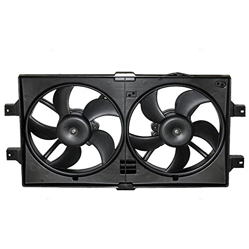 Brock Replacement Radiator Cooling Fan Assembly Compatible with 1998-2004 Intrepid Concorde 1999-2004 300M 1999-2001 LHS 5072180AB