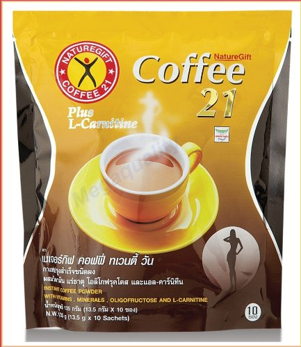 5x Naturegift Coffee 21 Plus trend rank Weight Slimming L-carnitine Fa Ultra-Cheap Deals Lose