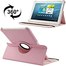 Universal Adjustable PU Leather Flip Case Compatible With Samsung Galaxy Tab 2 (10.1) / P5100 360 Degree Rotatable Litchi Texture Leather Case With Holder Tablet Case (Color : Pink)