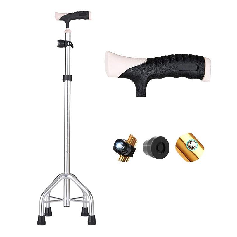 知恵献身受け継ぐ折り畳み式松葉杖、滑り止め医療高齢者松葉杖軽量多機能調整可能なアルミ合金ウォーカー付きledライト