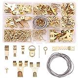 Rantecks 230PCS Ganchos para cuadros Kit para colgar cuadros Ganchos para colgar cuadros de metal Juego de colgadores para cuadros
