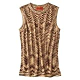 Missoni for Target Space-Dye GOLD Sleeveless Sweater - Gold Zigzag Extra Large (XL)