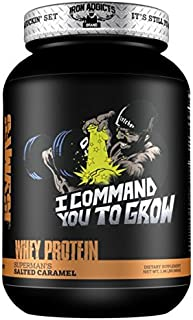 I Command You To Grow   Iron Addicts   Protein Growth Complex   Formulated By CT Fletcher (28 Servings, Supermans Salted Caramel)