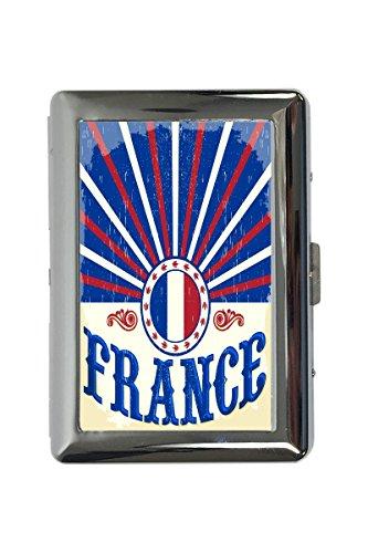portasigarette in Metallo Vacanza Agenzia Viaggi Francia Stampato