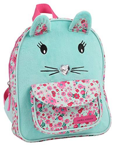 Laura Ashley Girls Royal Mint Critter Cat Mini Backpack