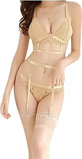 Women Sexy Lingerie Lace Babydoll Bodysuit Nightwear Bra Set