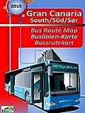Gran Canaria South Bus Map / Gran Canaria Süd Buslinien-Karte (English Edition)