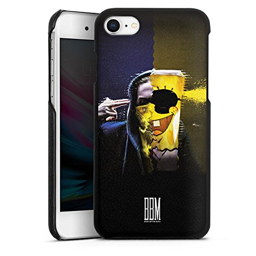 DeinDesign Apple iPhone 8 Lederhülle schwarz Leder Case Leder Handyhülle Spongebozz Fanartikel Merchandise Sun Diego