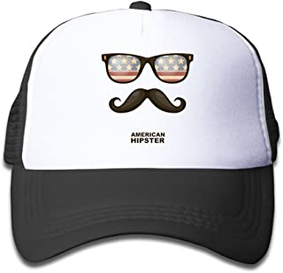 SFT Kid's American Hipster Moustache Fashion Trucker Baseball Cap Adjustable Mesh Hat Girl Boy