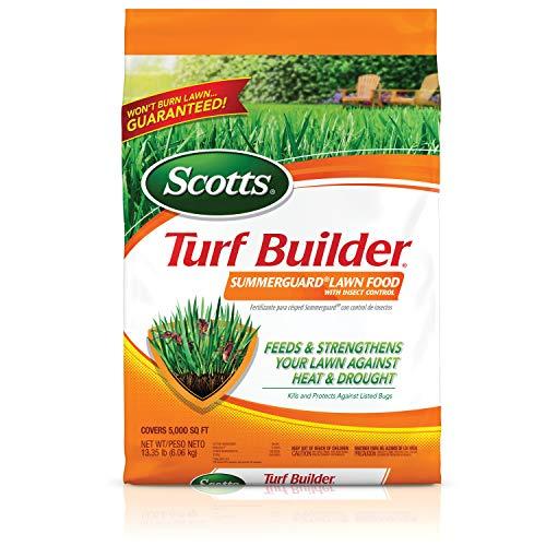Fertilizante de césped Scotts, protector para verano con control de insectos, Summerguard con Control de insectos