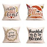 """Dimensions: 18"""" x 18"""" / 45cm x 45cm (1-2cm deviation) This pillow cover has an inviside zipper Insert are not included (NO Pillow) Package included:4 pillow cases.Only one side pattern Create stylish comfort on sofa, bench, or living room, coffee sho..."""