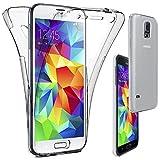ebestStar - Compatible Coque Samsung S5 G900F, Galaxy S5 New G903F Neo Etui Housse Silicone Gel Intégrale Avant et Arrière, Transparent [Appareil: 142 x 72.5 x 8.1mm, 5.1'']