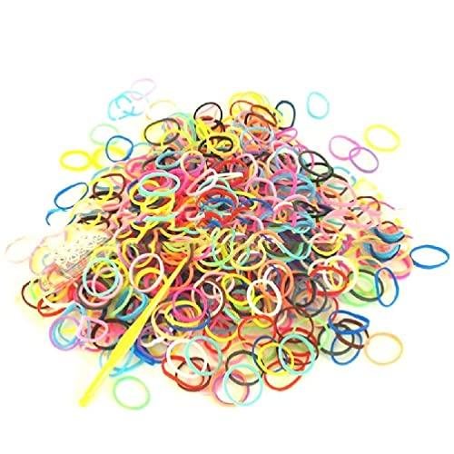 1 Set Rubber Bands voor Armbanden Maken DIY Handcraft Kits Craft Kit Interactieve DIY Kit Accessoires met 600 stuks/Pack elastiekjes voor haar sterke elastiekjes voor beugels 1/4 voor beugels armband kit