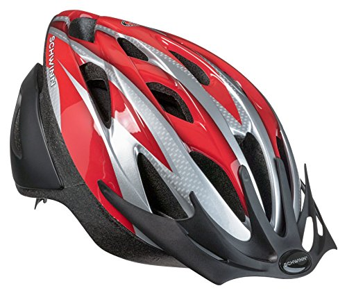 Schwinn Thrasher Bike Helmet, Lightweight Microshell Design, Youth, Red