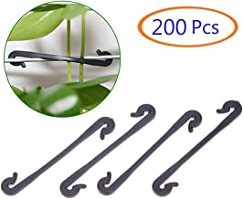 Tfwadmx 200 Pcs Tomato Support Clips, Plant Support Hooks Clips for Supporting/Straightening Plant Stems, Stalks, Flower and Vines