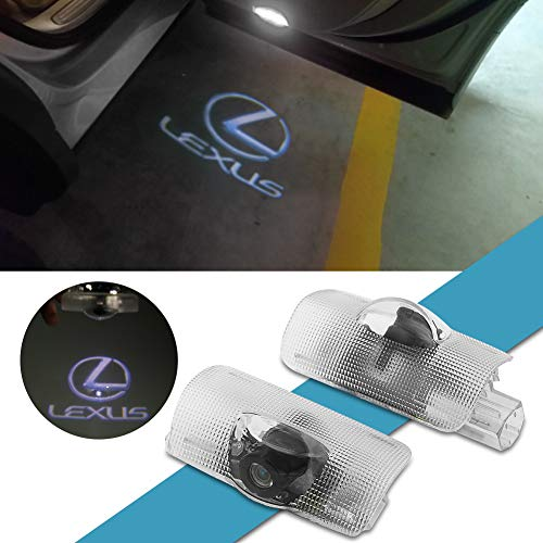 kanuoc Car Door LED Logo Light for The Replacement of Lexus, HD Ghost Shadow Projector Entry Welcome Lamp Courtesy Lights Suitable for LEXUS GX HS IS LS LX570 RC RX SC Series