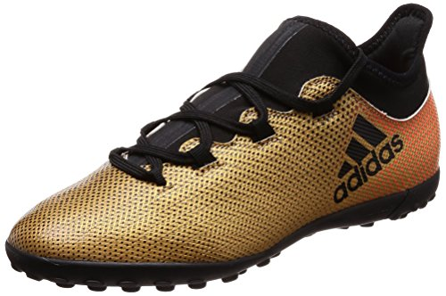 Adidas X Tango 17.3 TF J, Botas de fútbol Unisex niño, Amarillo (Ormetr/Negbas/Rojsol 000), 38 EU