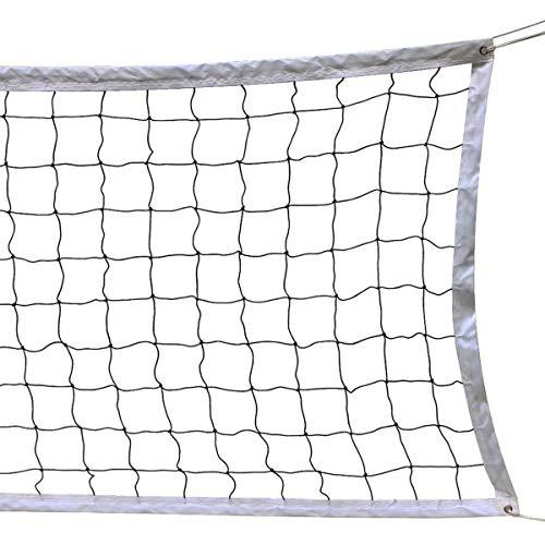 SplendoRoute Volleyballnetz, für Outdoor-Sport, klassisches Volleyball-Ersatznetz für Garten, Hinterhof, Strand (90 x 90 cm) Stangen nicht im Lieferumfang enthalten