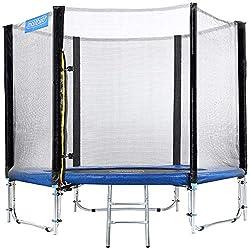Monzana trampoline Ø 366 cm TÜV SÜD GS Certified complete set including safety net, ladder, edge cover & accessories - children's trampoline garden trampoline
