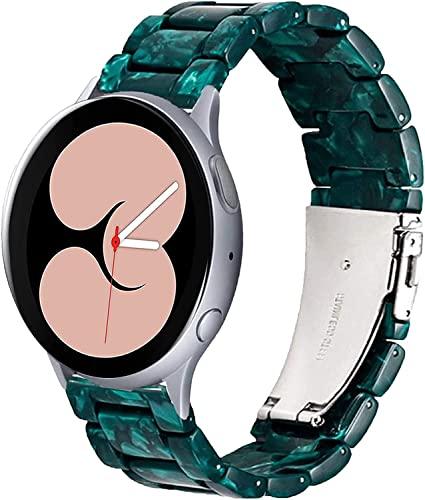 Shieranlee Compatible con Galaxy Watch 4 40mm 44mm Correa,20 mm Correa de Resina para Galaxy Watch4 Classic 46mm 42mm/ Galaxy Watch Active2 44mm 40mm/Active1 40mm/Galaxy Watch 42mm/Watch3(41mm)