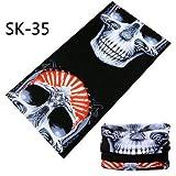Última Moda Skull Magic Tube Bandanas sin Costuras Diadema Variedad Turbante Capucha Velo Pañuelo para la Cabeza Multifunción - SK 35