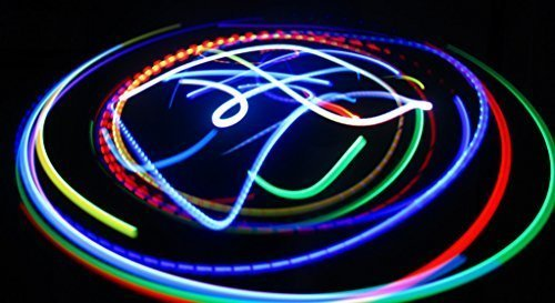 Rob's Super Happy Fun Store Rainbow Bliss - Orbit Rave Light Toy - 4-Microlight LED Spinning Flywheel Light Show