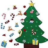 Majome Pièces de Sapin de Noël Feutre, DIY Christmas Tree,Ornements de Paillettes Détachables, Réutilisable et Facile à Suspendre et à Décorer, pour Les Enfants (24pcs Pendant)