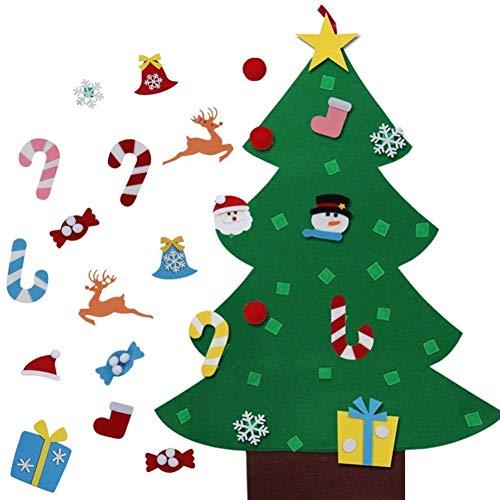 Majome Pièces de Sapin de Noël Feutre, DIY Christmas Tree,Or